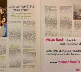 """Artikel über meine Arbeit im Magazin """"tierisch ausgeglichen"""""""